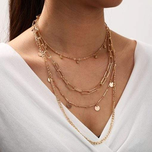 Collier multirang chaines