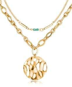 Collier tendance 2020 medaille or
