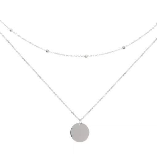 Collier multi-chaines argent