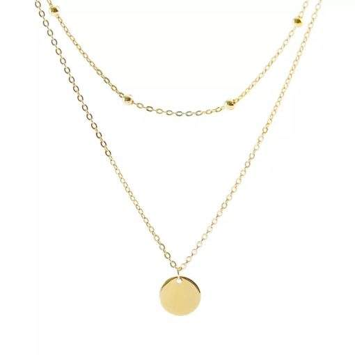 Collier multi-chaines or