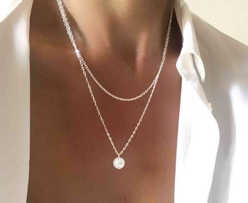 Cadeaux NoelFemme 2020 - Collier perle blanche